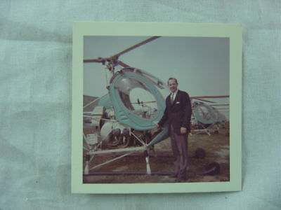 Vintage Photo Man w/ Hughes Helicopter 799