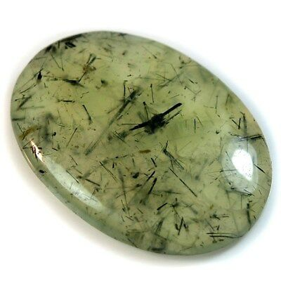 Natural Rutilated Prehnite (epidot inclusions) Oval Cabochon Collection