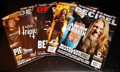 Decibel Magazine - Heavy Metal Rock Lot of 5 Random Back Issues w/ FLEXI DISCS!