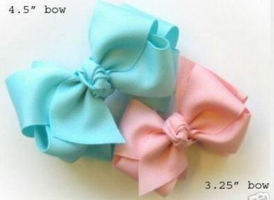 "50 BLESSING Good Girl 3.25""/4.5"" Boutique Hair Bow Clip 5 Style"