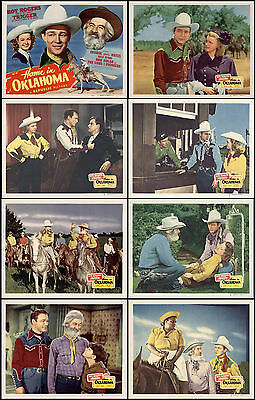 ROY ROGERS  HOME IN OKLAHOMA COMPLETE SET OF 8 INDIV 11x14 LC PRINTS 1946