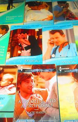 """HARLEQUIN  """"Medical"""" Romance Book Lot of 8 -PAPERBACKS-Doctor on Loan, A Promise"""