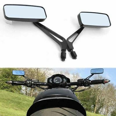 Black 8mm 10mm Motorcycle Wing Side Mirrors Anti Glare Motorbike Rearview Pair