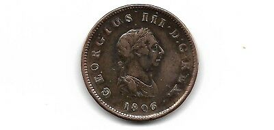 Great Britain UK 1806  1/2 Penny coin