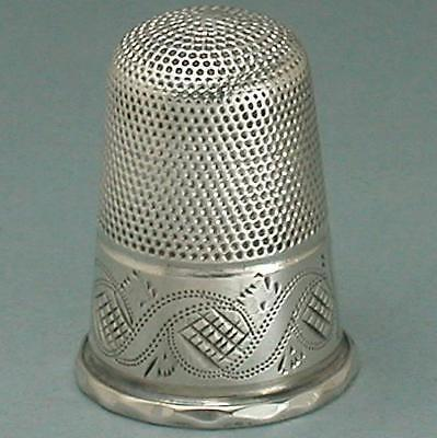 Antique English Regency Sterling Silver Thimble * Circa 1830