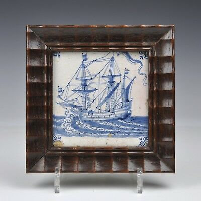 "A 17th Century Tile With ""Ship"""