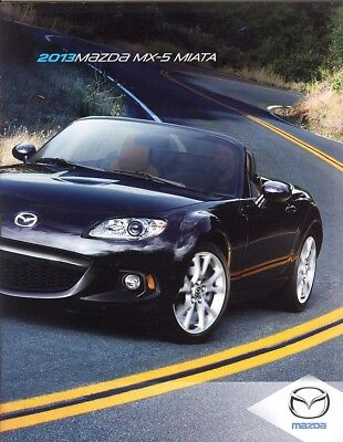 2013 Mazda MX-5 Miata Sport Club Grand Touring Dealer Sales Brochure