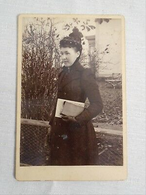 Antique Cabinet Woman Outside Home With Books Named Hall Family Yarmouth