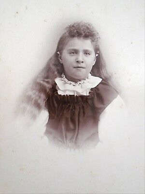 Stunning Image Antique Cabinet Card Photo Young Lady Haskell & Hall Annapolis NS