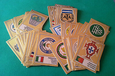 PANINI FOOTBALL CLUBS 1975 - shiny badges at your choice - removed good vg cond.