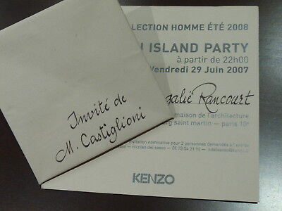 Invitación Desfile Kenzo - Paris 2007 - Origami Island Party