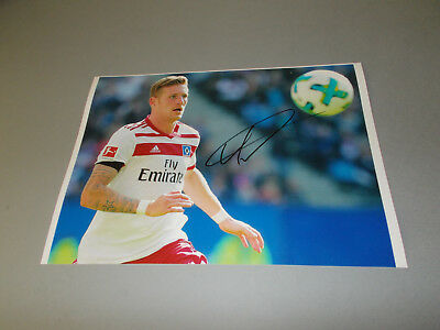 Andre Hahn  HSV DFB  signiert signed Autogramm auf 20x28 Foto in person