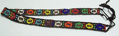 Vintage Southwest Hand Beaded Colorful Necklace