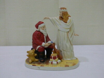 The Snow Queen By Norman Rockwell with Santa 1981 Lynell Marketing