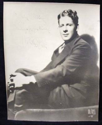 Rudy Vallée Signed Photo US Singer Actor Bandleader