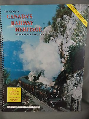 Railroad Guide Canada's Railway Heritage Museum Attractions Adams 1993 Photo Map