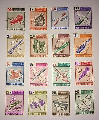 Indonesia 1967 Stamps MUSICAL INSTRUMENTS Lightly Used