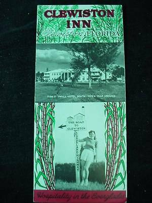 Clewiston Inn Florida Advertising Pamphlet Sugarland Highway Haunted Ghost