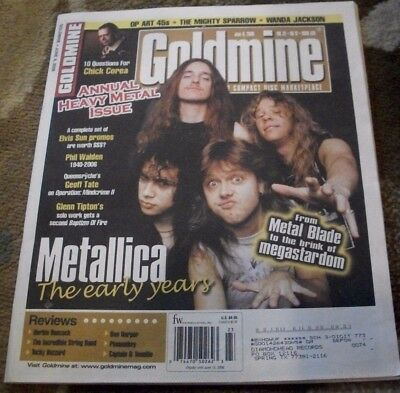 METALLICA - Early Years cover story - Goldmine Magazine issue 675 6/9/06