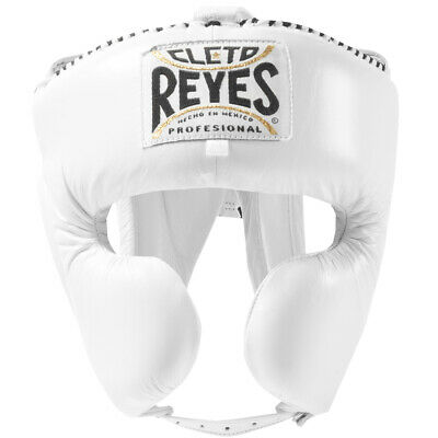 Cleto Reyes Classic Training Cheek Protection Boxing Headgear - White