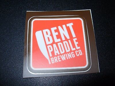 BENT PADDLE BREWING Minnesota Bent Hop can STICKER decal craft beer brewery