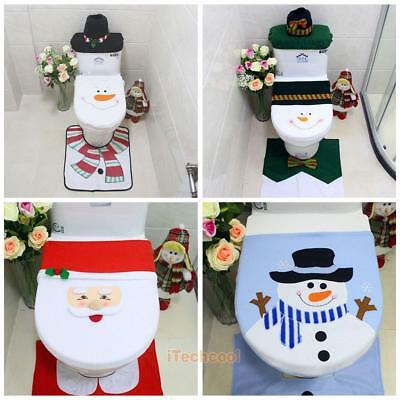 4 Styles Christmas Xmas Toilet Seat Lid Cover Covers Bathroom Home Decoration