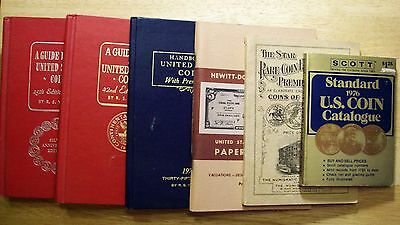Six Vintage Coin Books And Guides