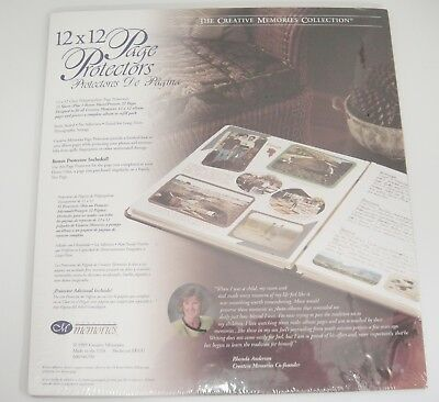 Creative Memories 12x12 Old Style Page Protectors 16 Sheets New Sealed