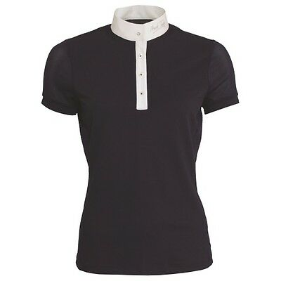 MARK TODD AMBER LADIES COMPETITION POLO SHIRT NAVY short sleeve for women