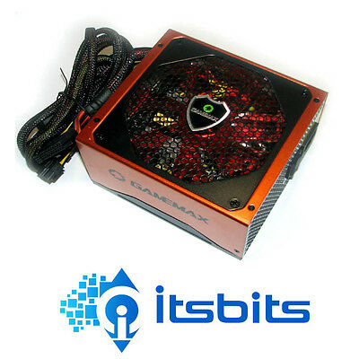 GAMEMAX 800W MODULAR 85%E  ATX POWER SUPPLY 14CM FAN 4x 22A 12v RAILS 6/8 PIN