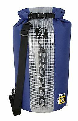 Aropec Swell Waterproof Dry Tube Shoulder Bag Roll Top Blue, 30 Litre Capacity