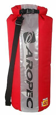 Aropec Swell Waterproof Dry Tube Shoulder Bag Roll Top Red, 40 Litre Capacity