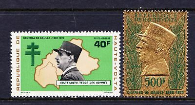 Upper Volta 1971 Anniversary of the death of de Gaulle - MNH - Cat £15 - (84)