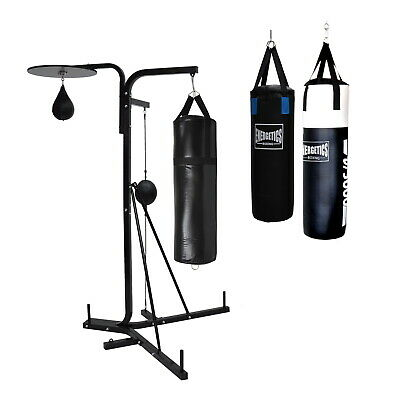 3 in 1 Boxing Stand - 3 Way Station + Punching Bag + Speed Ball + Ceiling Ball