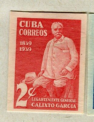 SPANISH CARIBBEAN;  1939 early Garcia issue IMPERF Mint hinged 2c. value