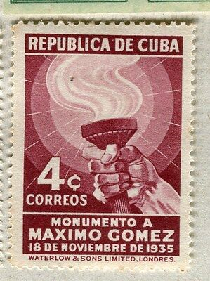 SPANISH CARIBBEAN;  1936 early Gomez issue Mint hinged 4c. value