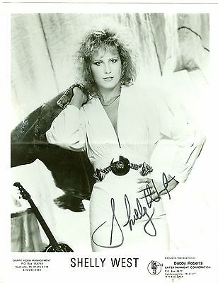 Shelly West autographed hand signed black and white 8 x 10 publicity photo