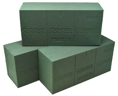 Genuine Oasis Wet Ideal Floral Florist Green Foam Maxlife Brick Fresh Flowers