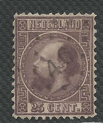 Netherlands Stamp Scott #11 from Personal Lifetime Collection Album 1867