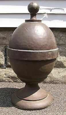 Antique Copper Roof Finial Cupola Pure Copper Sheet Vtg Garden Yard Ornament