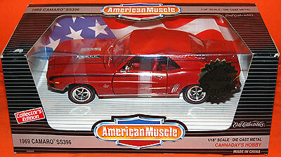 ERTL 1/18 1969 Chevy Camaro SS RED Diecast COIN BANK 1/500 RARE American Muscle
