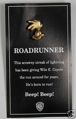 Roadrunner Warner Brothers Gold Tone Pin Jewelry