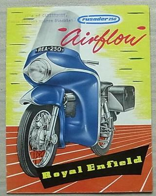 ROYAL ENFIELD CRUSADER 250 AIRFLOW MOTORCYCLE Sales Brochure 1958 #655/25M.258.