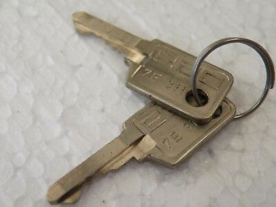 2 Spare Keys for our listing CC19  Key number 7E311 by EAO CF32