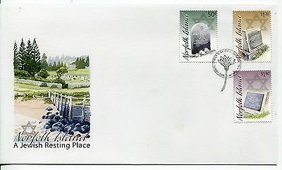 2008 Norfolk Island A Jewish Resting Place (Gummed Stamps) FDC