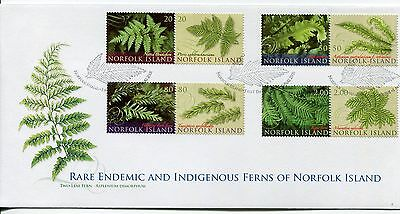 2008 Rare Endemic & Indigenous Ferns of Norfolk Island FDC