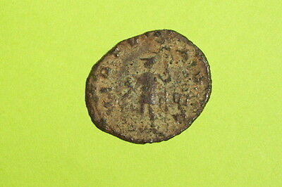 Ancient ROMAN COIN of GALLIENUS 253-268 AD virtus spear helmet old antique money