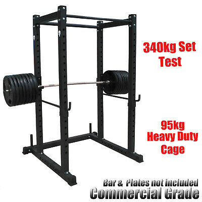 95Kg Commercial Grade Power Rack - Power Cage For Weight Bench Press -Squat Rack