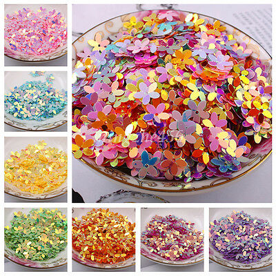 100pcs Flower Loose Golden Tone Sequins Beads For Clothing Sewing Decor DIY 10mm