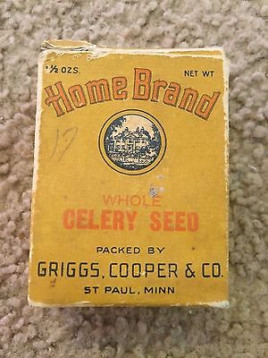 Vintage Home Brand Spice Whole Celery Seed 1 1/2 oz Griggs Cooper & Co St. Paul
